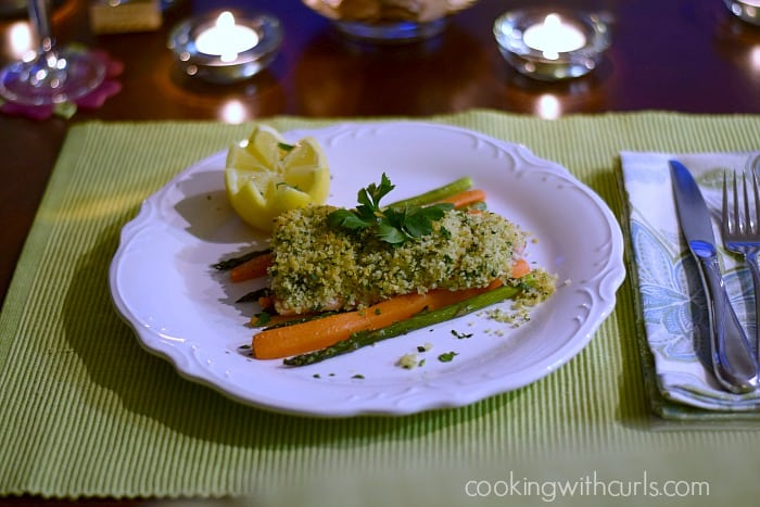 Rosemary and Panko Crusted Salmon Cooking with Astrology Aries cookingwithcurls.com