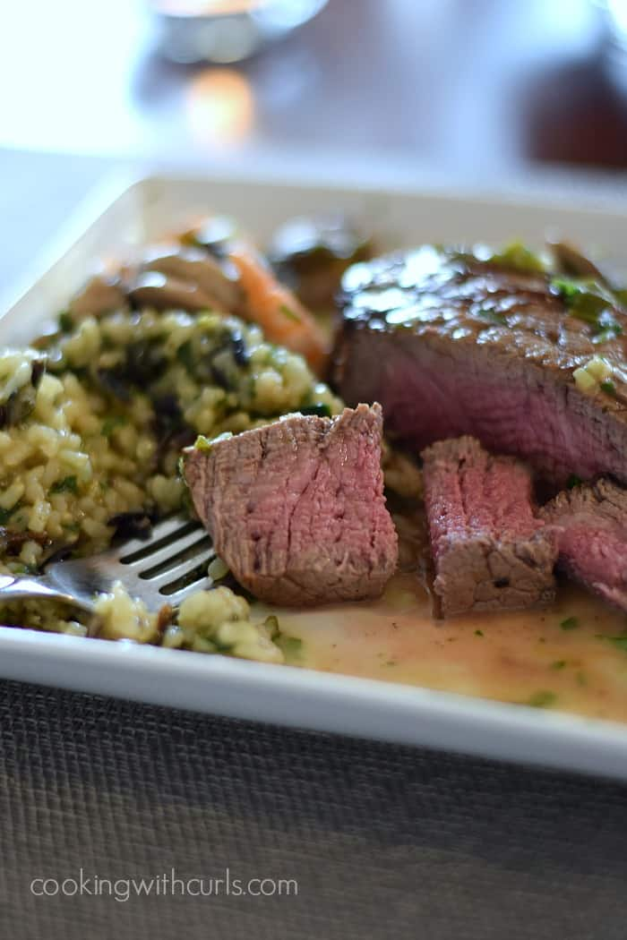 Beef Tenderloin with Shrimp and Mushroom Sauce | Cooking with Astrology #Taurus | cookingwithcurls.com