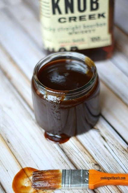 Bourbon and Brown Sugar Barbecue Sauce | cookingwithcurls.com