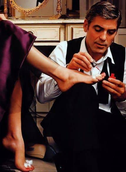 George Clooney nail polish