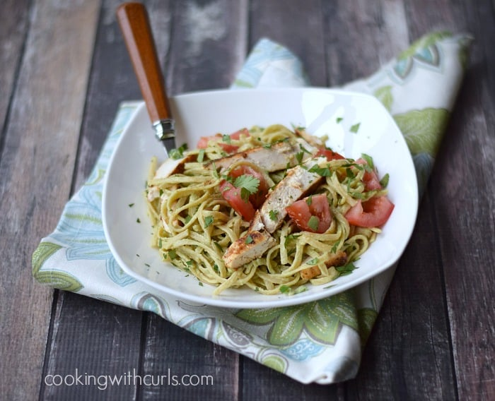 Guacamole Linguine by cookingwithcurls.com
