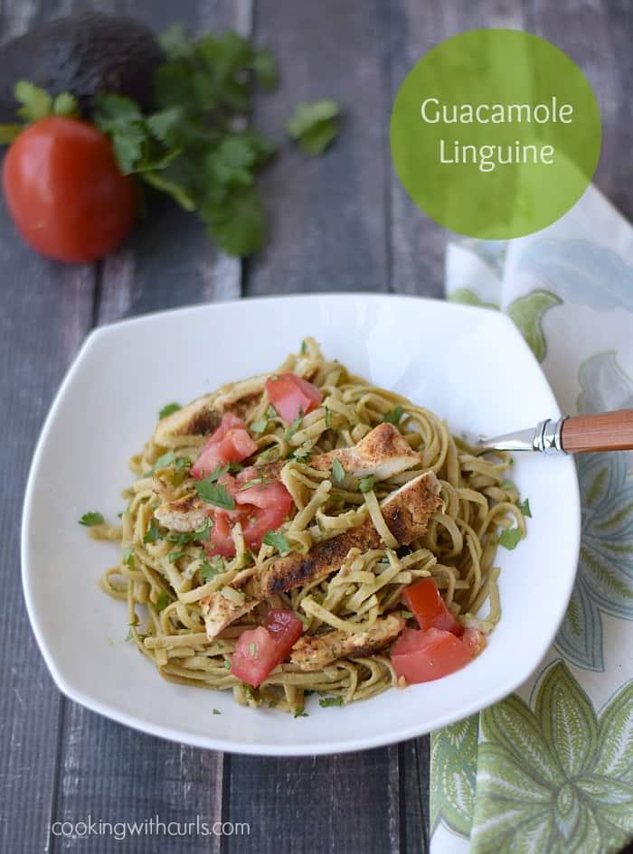 Guacamole Linguine - cookingwithcurls.com #Ccleaneatingchallenge