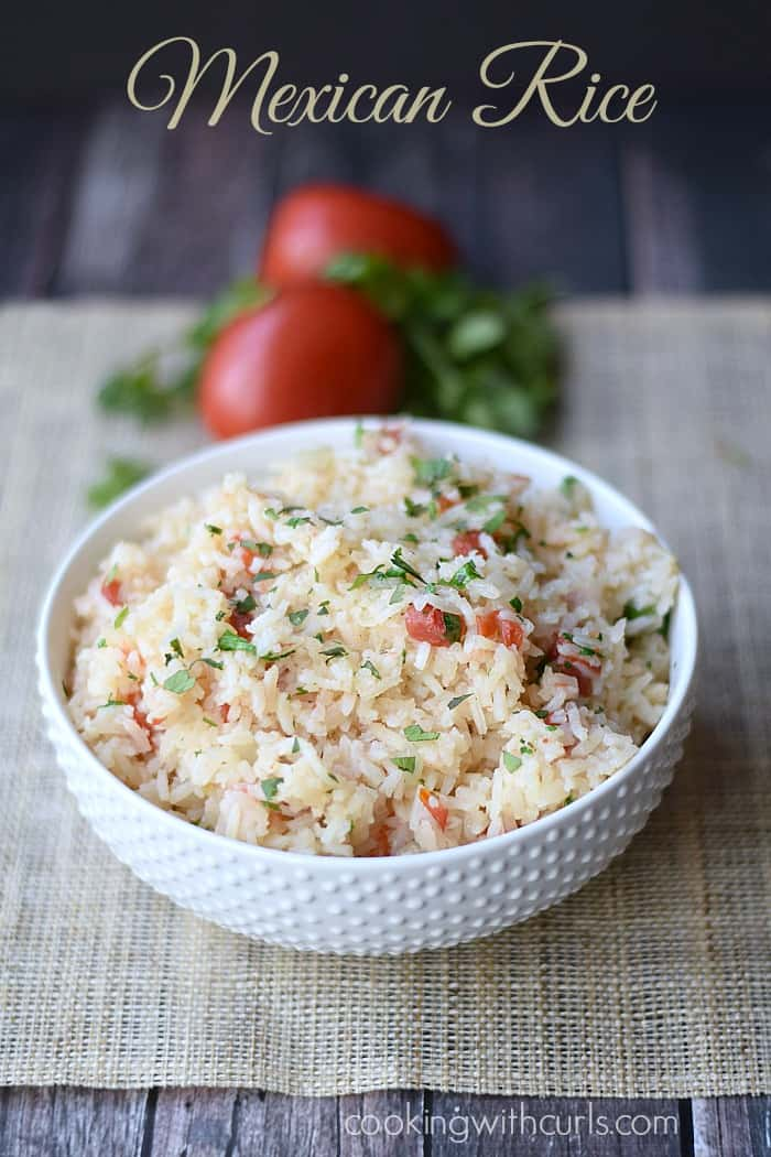 Mexican Rice | cookingwithcurls.com | #cincodemayo #fiesta