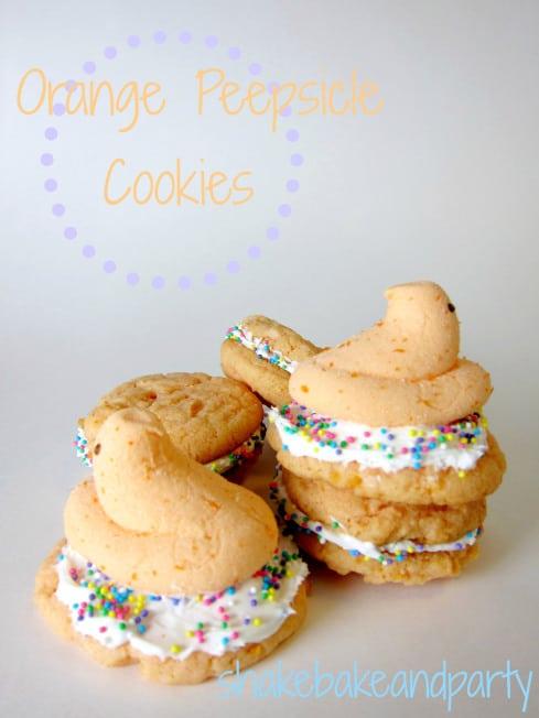 Orange Peepsicle Cookies