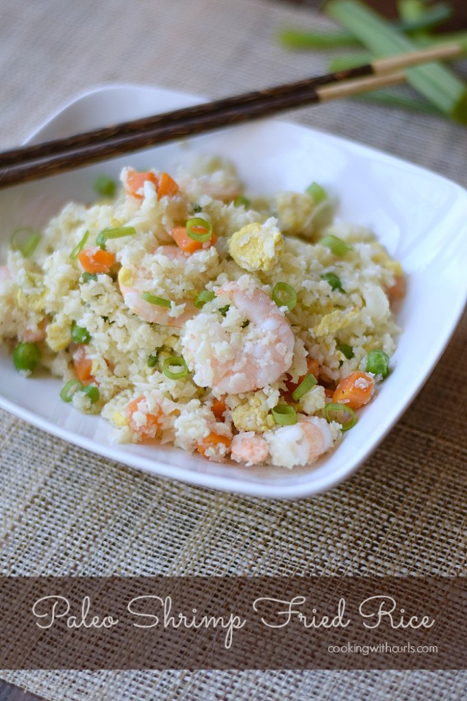 Paleo Shrimp Fried Rice | cookingwithcurls.com