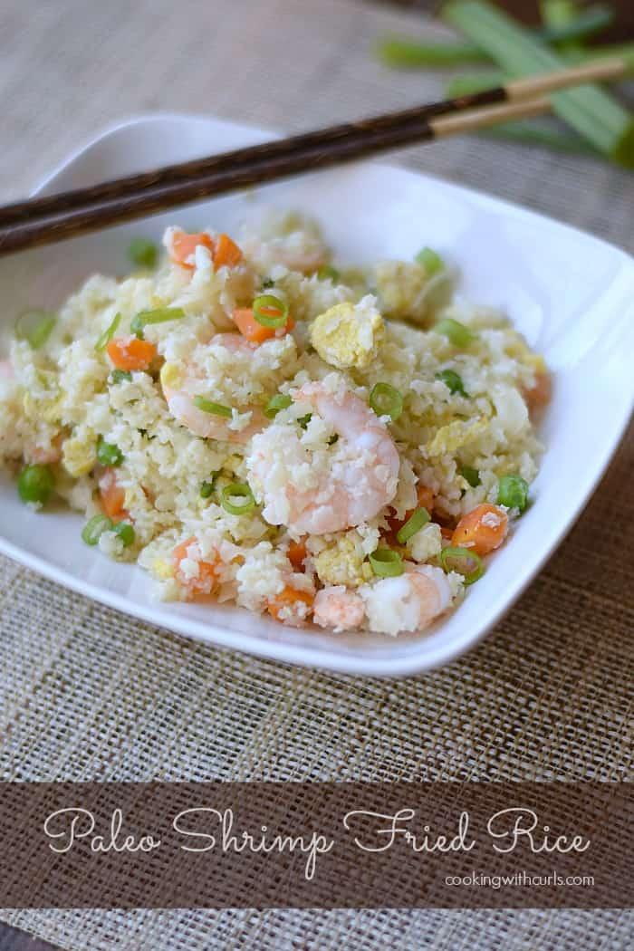 Paleo Shrimp Fried Rice | cookingwithcurls.com