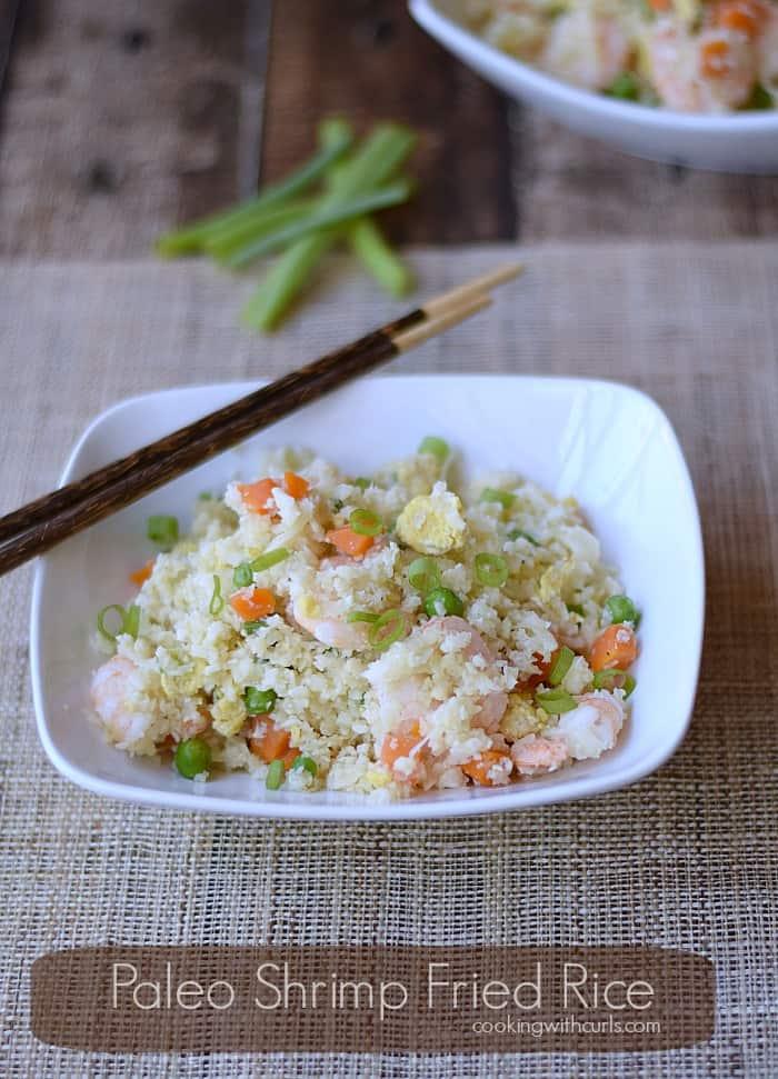 Paleo Shrimp Fried Rice | cookingwithcurls.com | #paleo #clean