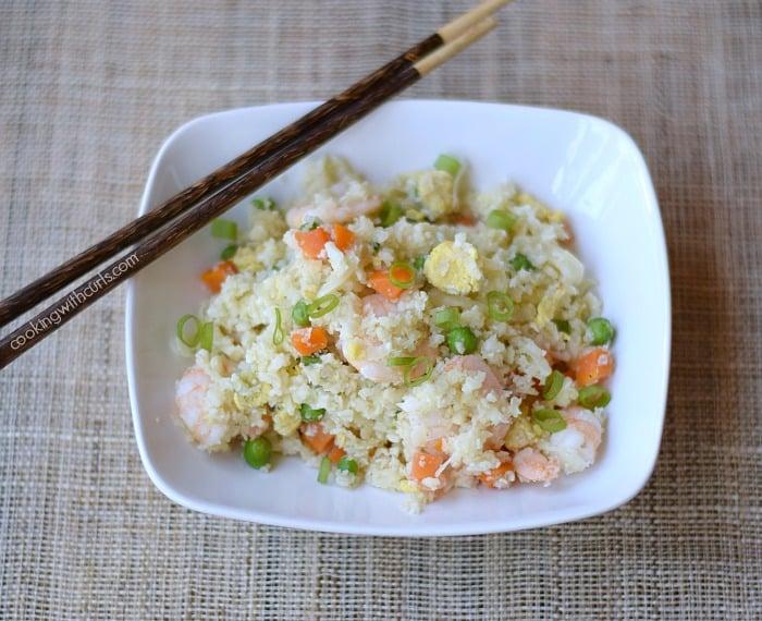 Paleo Shrimp Fried Rice cookingwithcurls.com