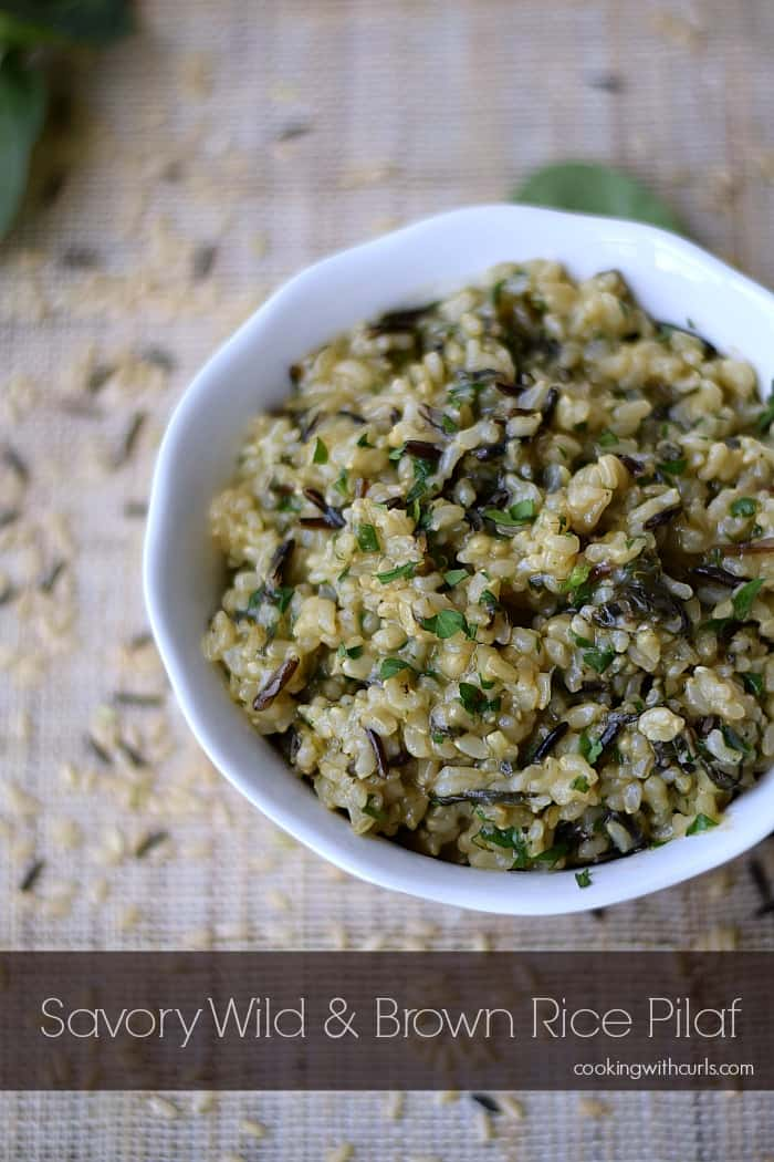 Savory Wild and Brown Rice Pilaf Cooking with Astrology #Taurus cookingwithcurls.com