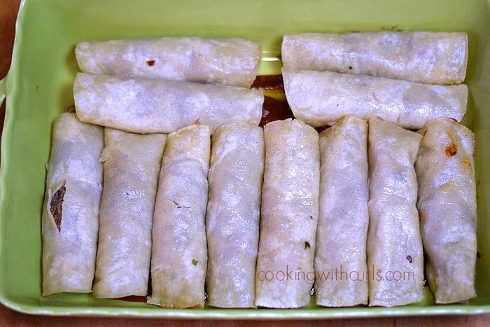 Shredded Beef Enchiladas roll cookingwithcurls.com