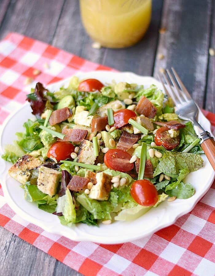 This fresh and delicious Clean Cobb Salad is the perfect way to keep your diet on track! cookingwithcurls.com