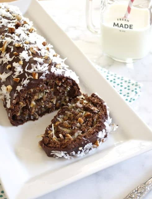 german chocolate cake roll flavorthemoments.com