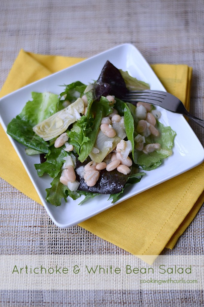 Artichoke and White Bean Salad | cookingwithcurls.com | Cooking with Astrology #Gemini