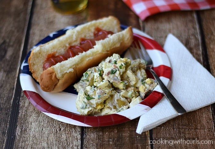 Bacon Potato Salad| cookingwithcurls.com | #picnic #barbecue