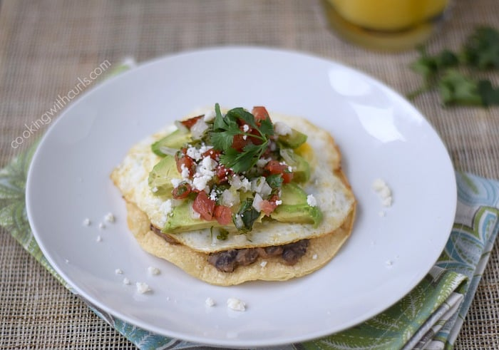 Breakfast Tostada | cookingwithcurls.com | Cooking with Astrology #Gemini