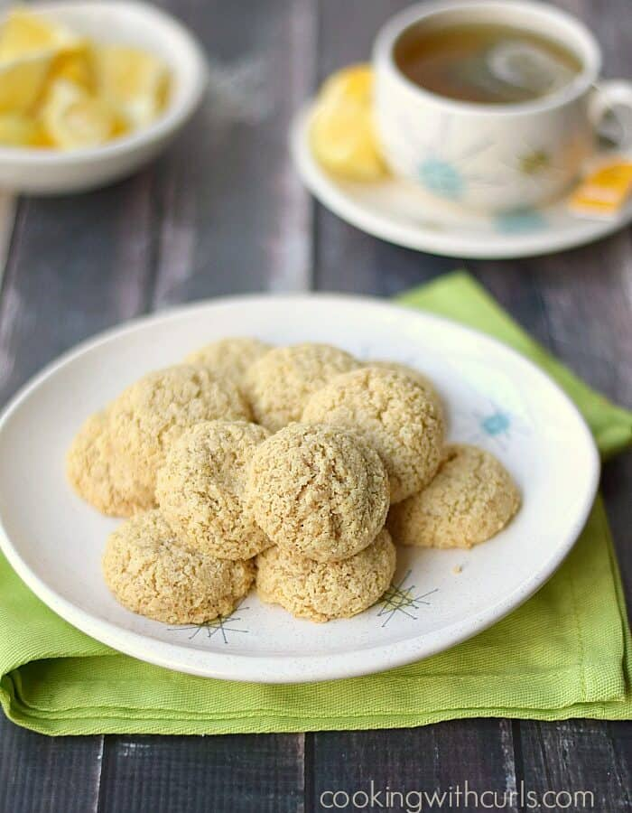 Clean Lemon Cookies are gluten-free and healthy! cookingwithcurls.com
