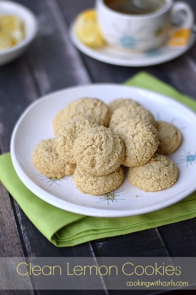 Clean Lemon Cookies   cookingwithcurls.com   #cleaneatingchallenge