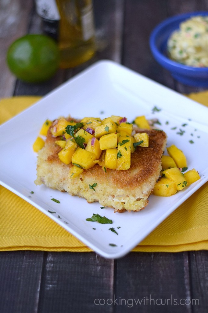 Mahi Mahi with Papaya Mango Salsa | cookingwithcurls.com | Cooking with Astrology #Gemini