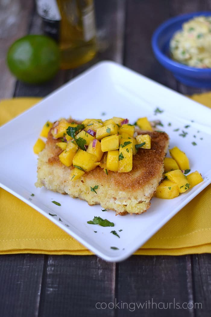 Mahi Mahi with Papaya Mango Salsa | cookingwithcurls.com | Cooking with Astrology #Gemini