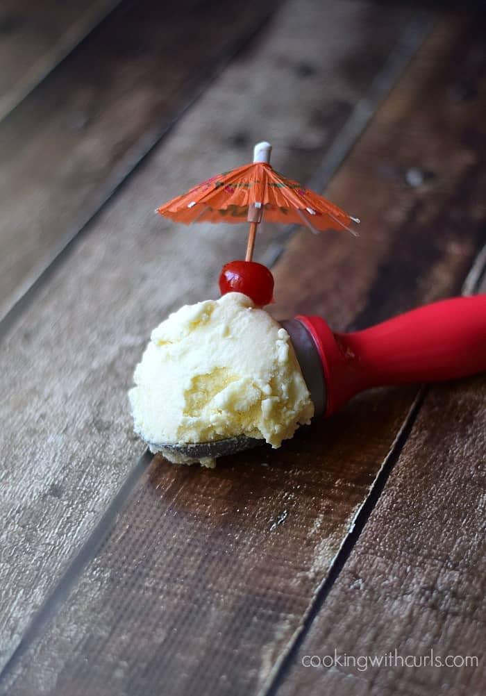 Piña Colada Ice Cream | cookingwithcurls.com | #dairyfree #vegan
