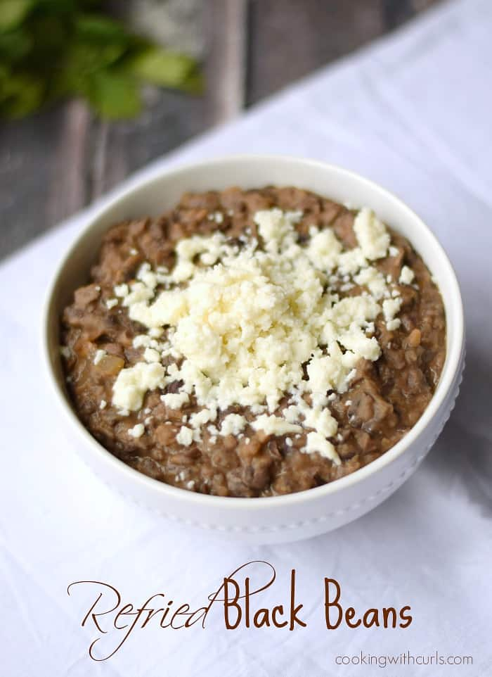 Refried Black Beans are easier to make than you realize! cookingwithcurls.com
