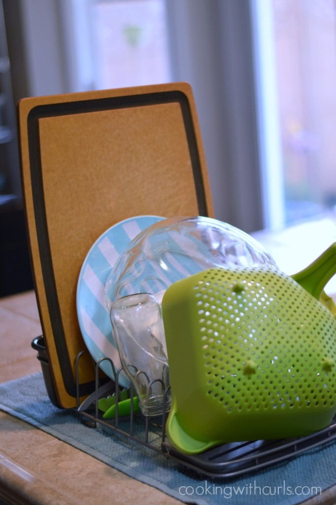 Rubbermaid Revolutionary Dish Rack from Target   cookingwithcurls.com  #RMDishRack #PMedia #ad