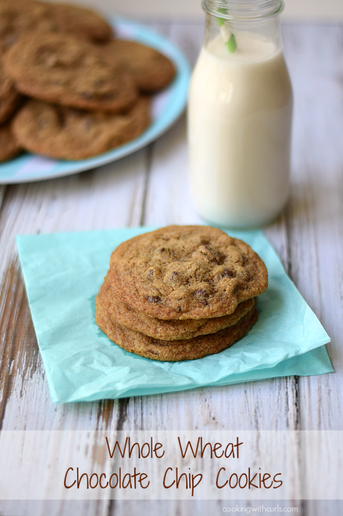 Whole Wheat Chocolate Chip Cookies | cookingwithcurls.com