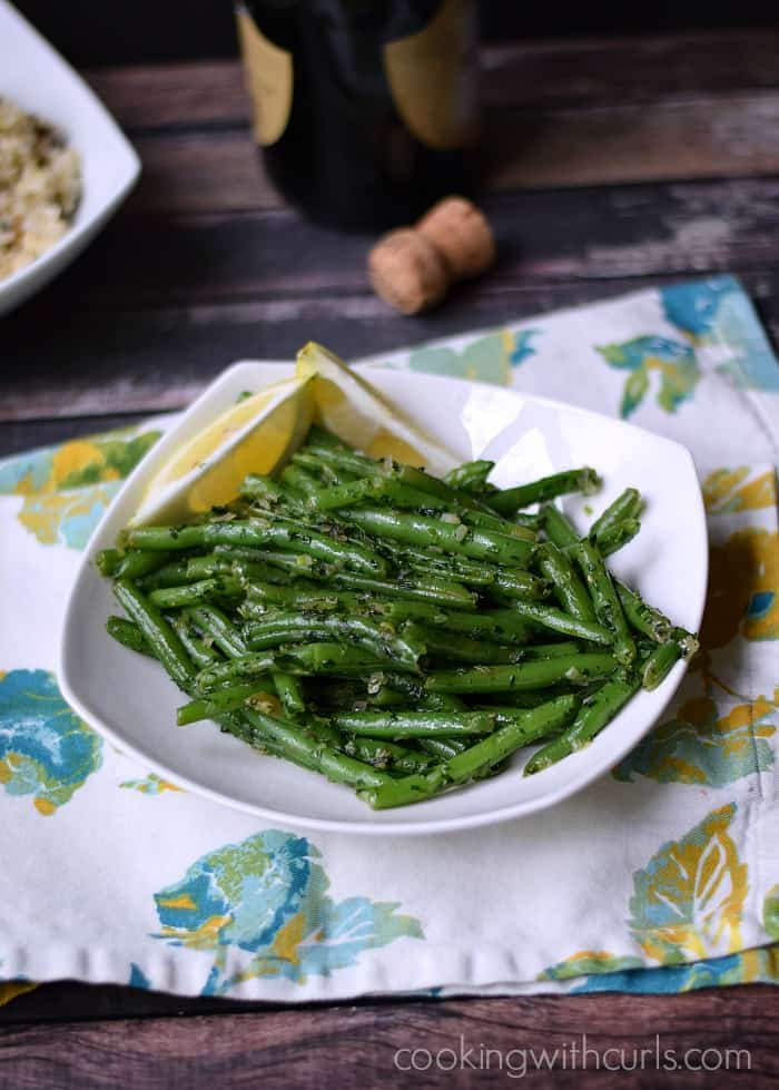 French Green Beans {Haricot Verts}  cookingwithcurls.com