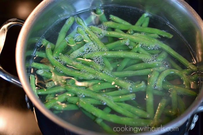 French Green Beans boil cookingwithcurls.com