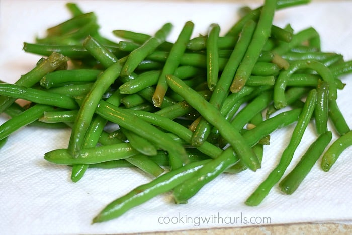 French Green Beans dry cookingwithcurls.com
