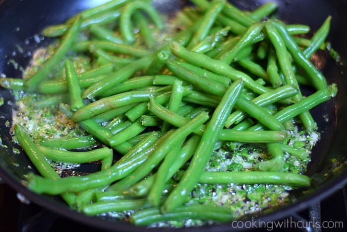 French Green Beans pan cookingwithcurls.com