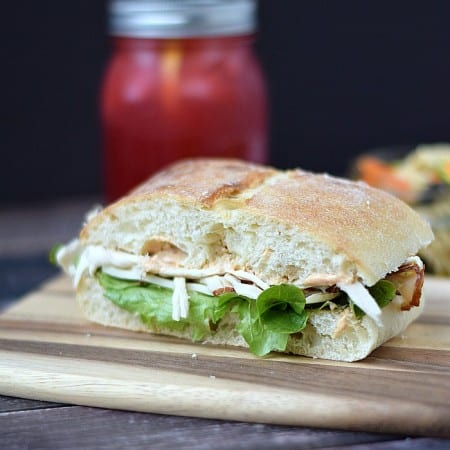Turkey on Ciabatta with Sun-dried Tomato Aioli, Arugula, and Provolone | cookingwithcurls.com | Cooking with Astrology #Cancer