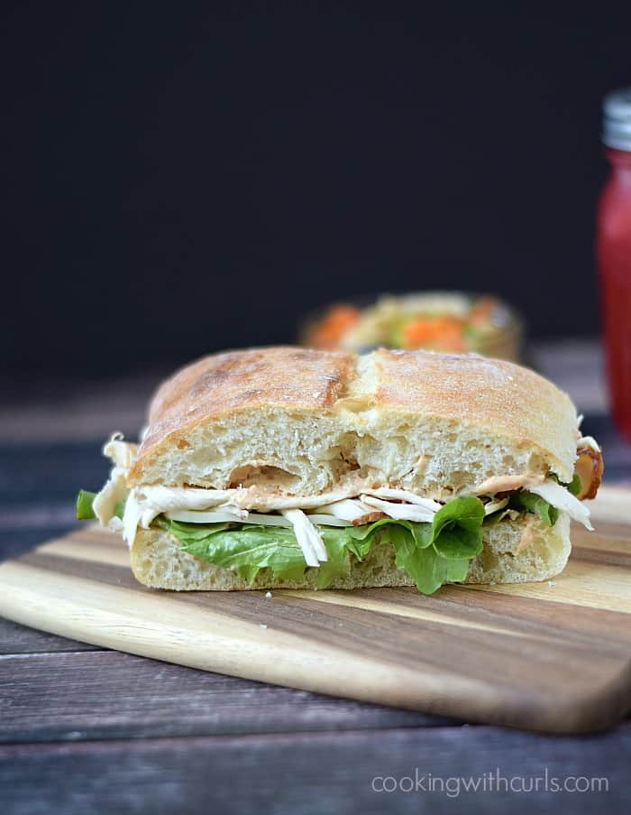 Turkey on Ciabatta with Sun-dried Tomato Aioli | cookingwithcurls.com