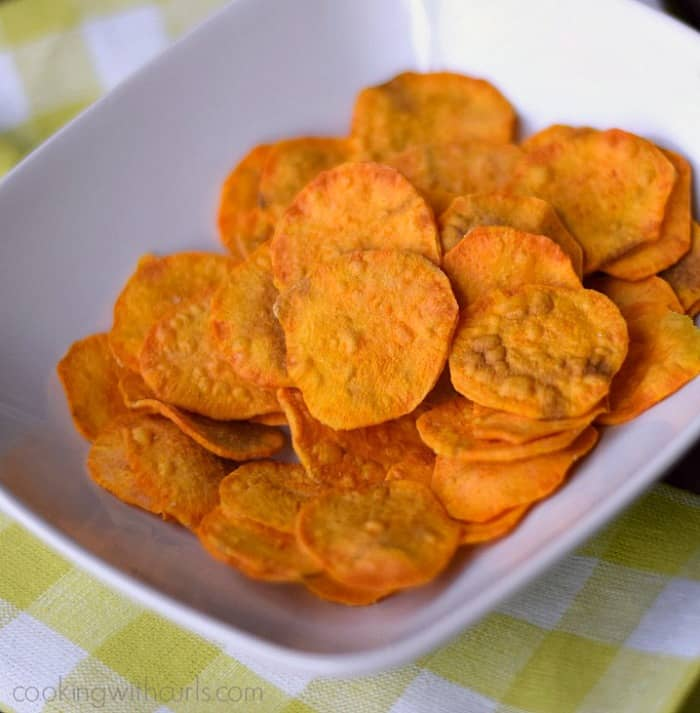 A bowl of Sweet Potato Chips