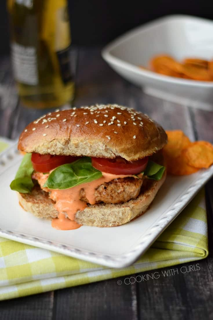 Chicken Sandwich with Sweet Potato Chips