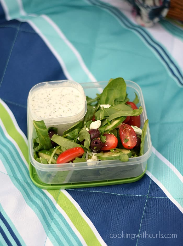 Greek Salad with Creamy Feta Dressing   Cooking with Astrology #Leo   cookingwithcurls.com