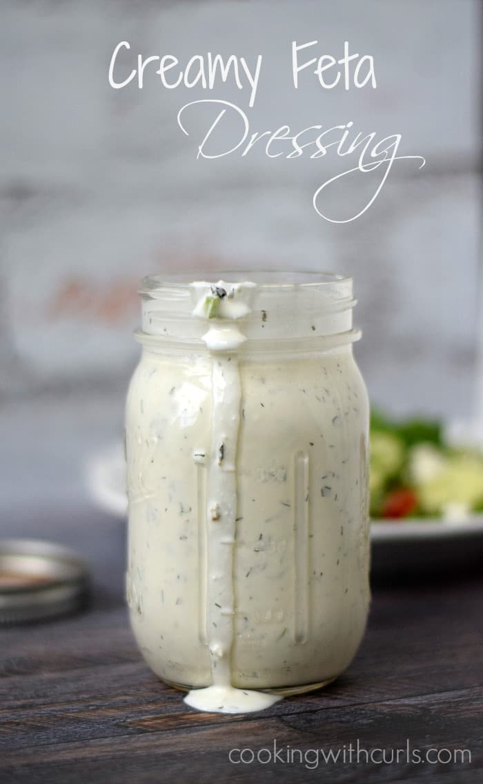 Creamy Feta Dressing   cookingwithcurl.com