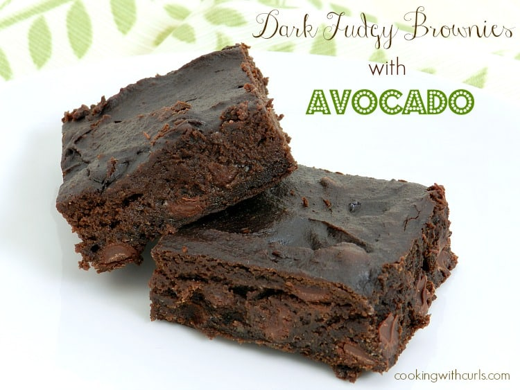Dark Fudgy Brownies with Avocado | cookingwithcurls.com