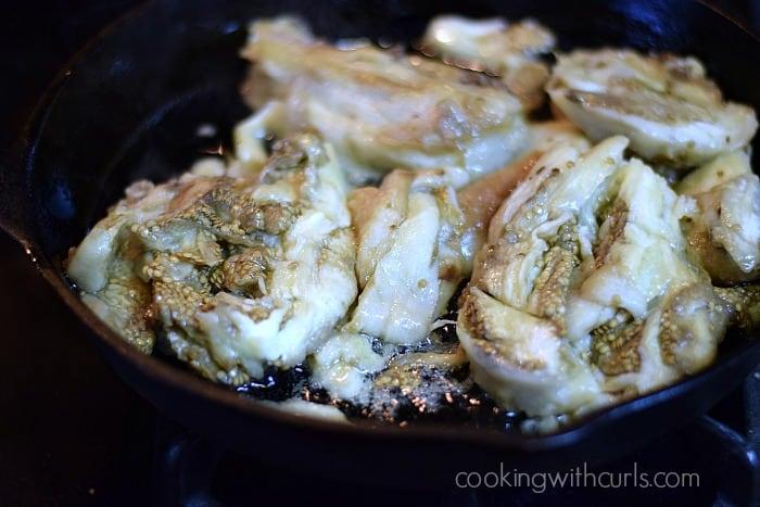Greek Eggplant Dip fry cookingwithcurls.com