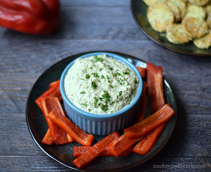 Greek Eggplant Dip {melitzanosalata} | cookingwithcurls.com | Cooking with Astrology #Leo