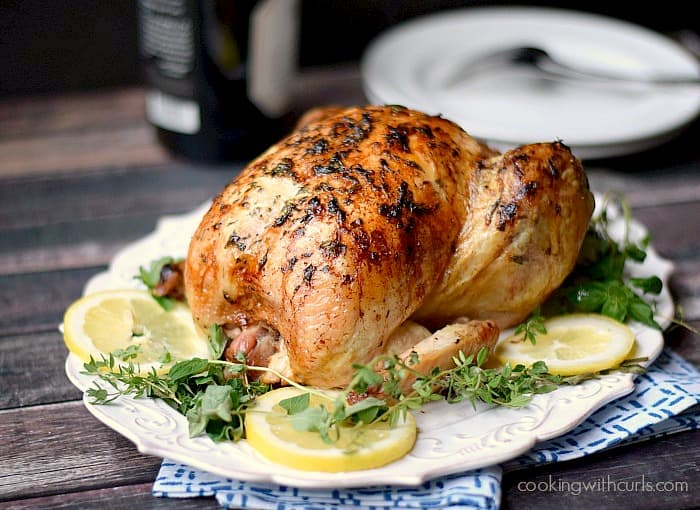 Greek Roasted Chicken - cookingwithcurls.com