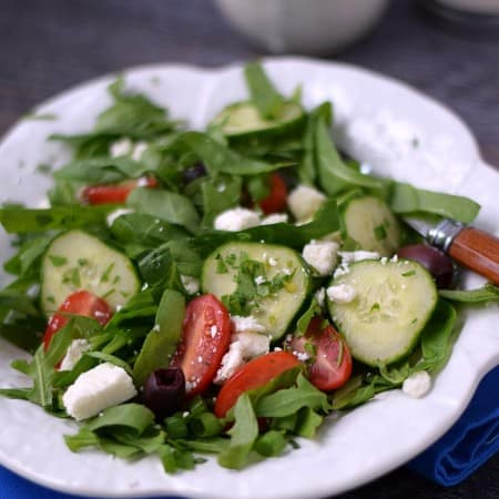 Greek Salad | cookingwithcurls.com | Cooking with Astrology #Leo