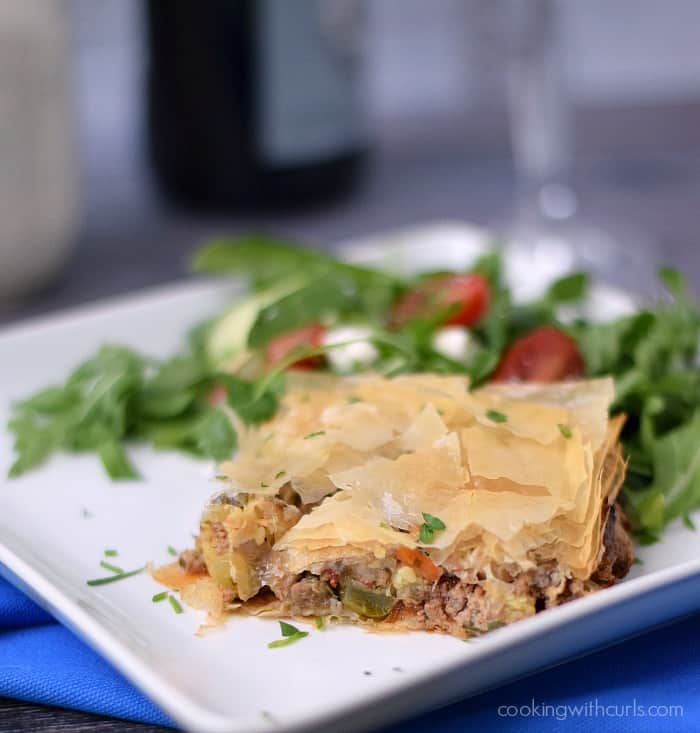 Greek Summery Meat Pie | cookingwithcurls.com | Cooking with Astrology #leo