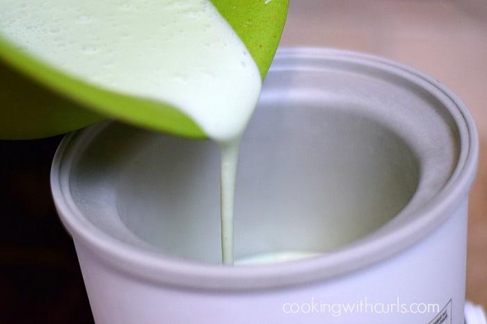 Pistachio Ice Cream pour cookingwithcurls.com
