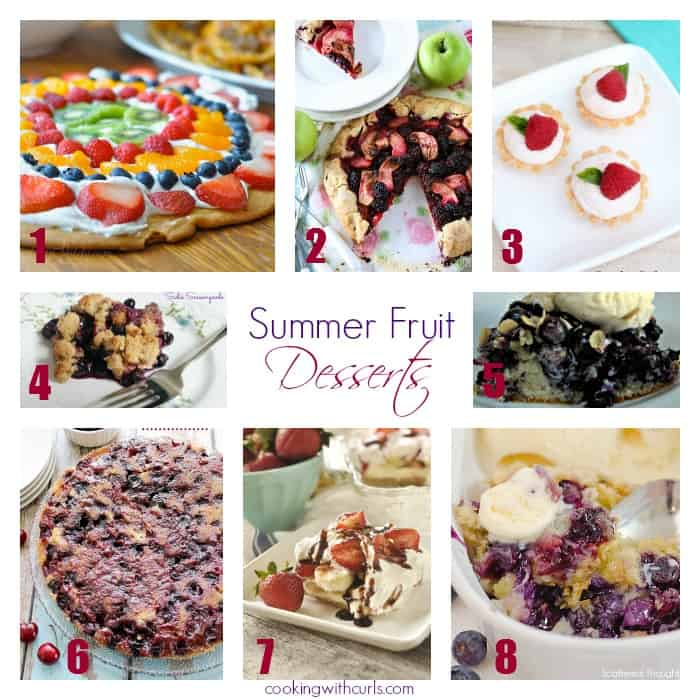 Summer Fruit Desserts Features | cookingwithcurls.com | #bestoftheweekend