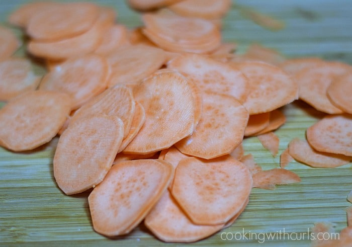 Sweet Potato Chips slice cookingwithcurls.com