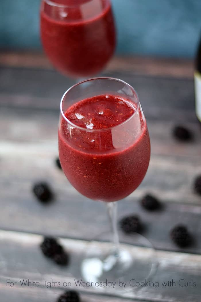 Wine Smoothie - Made with frozen berries and wine | For White Lights on Wednesday by Cooking with Curls