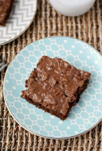A scaled down version of Texas Sheet Cake that is perfect for small gatherings or picnics