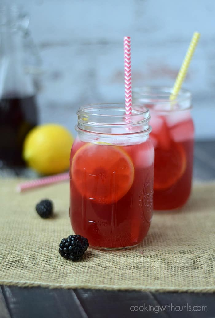Blackberry Passion Tea Lemonade | cookingwithcurls.com #virgo