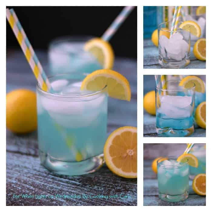 Blue Lemonade Cocktail | For White Lights on Wednesday By Cooking with Curls